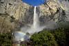 A Double Rainbow at Bridalveil Fall (Yosemite National Park) (thor_mark ) Tags: nikond800e day4 triptopasoroblesandyosemite yosemitenationalpark lookingse capturenx2edited colorefexpro trees hillsideoftrees blueskies outside mountains mountainsindistance mountainsoffindistance nature landscape pacificranges sierranevada yosemiterittersierranevada centralyosemitesierra yosemitevalley doublerainbow rainbow rainbows bridalveilfallviewingpoint bridalveilfall waterfall 617ft188metres ahwahneecheenamepohono spiritofthepuffingwind waterfallmist project365 portfolio california unitedstates absolutelystunningscapes