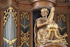 Schnitger-orgel Grote Kerk, Zwolle (Gerrit Veldman) Tags: zwolle overijssel nederland netherlands orgel organ orgelkas organcase orgelpijpen organpipes orgelfront houtsnijwerk woodcarving david harp architectuur architecture olympus epl7