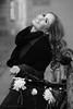Bicycle and flowers ;-) (PIXXELGAMES - Robert Krenker) Tags: newspaper news cafe kaffee vienna wien snapshot unknown candid portrait portret schwarzweiss blackandwhite blacknwhite bnw fujifilm fujinon filmsimulation lifestyle street streetstyle urban streetphotographer streetphotography biancoenero bicycle flowers nature photoshoot longhairs hairs smile coat lady dark black white city ritrato retrato bokeh