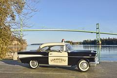 _Police Cruiser at St. Lawrence River (tedford54) Tags: chev 1957 police cruiser river stlawrenceriver diecast modelcar 118 ivylea gananoque gananoquepolice nikon