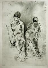zwei gegenlaufig vorgebeugt stehend (Alemwa) Tags: alemwa berlin kreuzberg skezching zeichnung zeichnen sketch nude akt aktzeichnung frau woman lifedrawing zeichnennachmodell