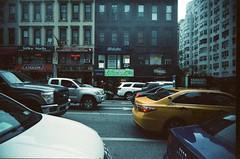 Drug Loft (Jim Davies) Tags: photography analogue film veebotique 35mm vivitar ultrawideandslim uws plastic toycamera kodak ektachrome 160t 160asa slidefilm crossprocessed xpro e6 c41 expired hardexpired newyorkcity nyc newyork bigapple lafayette lexingtonavenue