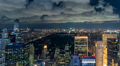 Central park, by night (Aresio) Tags: newyork centralpark usa night landscape rockefellercenter topoftherock skyscrapers skyline clouds outdoor