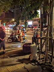 Bangkok night with mannequin (ashabot) Tags: bangkok thailand streetscenes street citystreets s seasia 2016 nightshots night nightstreet odd mannequin weird