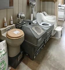 Composting toilets (SteveMather) Tags: composting toilets lehmans hardware appliances store kidron dalton ohio interior items nonelectric