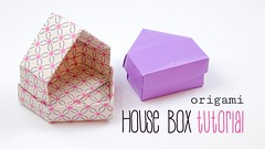 Origami House Box  Dolls House  DIY  Paper Kawaii (paperkawaii) Tags: origami instructions paperkawaii papercraft diy how video youtube tutorial