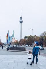 Spires (tanjatiziana) Tags: berlin germany fernsehturm spires church broadcasttower streetphotography family