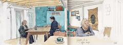 Ginger & Co Coffee Shop (3arcD) Tags: coffee shop shrewsbury caf sketch watercolour