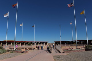 The Four Corners Monument in the southwestern U.S.A.