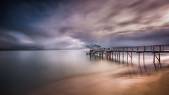 Sorrento sunrise (Chas56) Tags: jetty jetties beach sea ocean water landscape seascape sunrise morning clouds pier piers canon canon5dmkiii ngc sand structure structures longexposure ndfilter bay portphillipbay