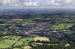 Flying towards Okehampton from the south west (John D F) Tags: okehampton aerial devon aerialphotography aerialimage aerialphotograph aerialimagesuk aerialview britainfromabove britainfromtheair droneview