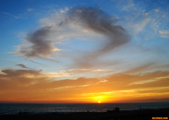 AnotherHotAugustNight (mcshots) Tags: usa california socal losangelescounty summer sunset coast sky clouds hot humid evening sun 2015 stock mcshots