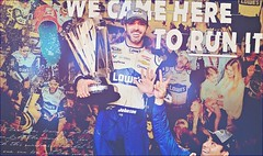 Just like fire, burning up the way/ If I could light the world up for just one day (i heart him) Tags: jimmiejohnson nascar 2016 sprintcup champion championship homesteadmiamispeedway lowes gatoradeshower victorylane win