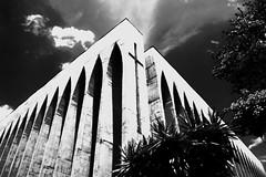 Igreja Dom Bosco de Braslia (mara.arantes) Tags: igreja church dombosco brasliapb monochrome digital blackandwhite braslia df brasil brazil arquitetura archiecture