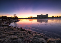 Frosty Dawn at Carew (Matt_Noone - www.10photography.co.uk) Tags: wales castle ruins sunrise winter frost ice cold pembrokeshire carew