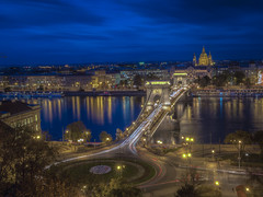 Budapest Chain Bridge (Wizard CG) Tags: budapest chain bridge hungary long exposure hdr skyline road sky architecture city epl7 ngc world trekker water night outdoor parliament danube unesco heritage list waterfront river landscape building infrastructure structure ed