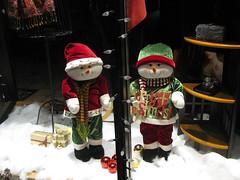 snowmen in shop window_0139 (Michael.C.G) Tags: december cold snowmen oakbayave