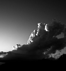 The cloud from the black lagoon (momrunninglate) Tags: stormclouds clouds storm blackandwhite contrast weather kansas sky nature landscape