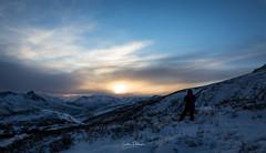 Enjoying the view (spwasilla) Tags: winter sunset photographer mountains alaska snow landscape clouds canon canon6d tamron2470mm