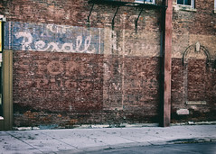 The REXALL STORE (Pete Zarria) Tags: minnesota rexall drug sign ghost old decay smalltown red brick color