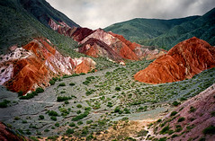 Jujuy Landscape, Argentina (elpedalero) Tags: travel viaje mountain latinamerica americalatina southamerica nature argentina bicycle inca america landscape geotagged cycling interesting rocks map altitude horizon rocky colores cliffs cerro valley latin strata latinoamerica tropical andes viagem layers colourful approach geotag contrasts recent bicycletouring stratified biketour salta siete purmamarca altiplano jujuy andean cuesta incan otherworldly layered adventurecycling iberoamerica cerrosietecolores landscapetropical viagembicycletouring elpedalero pedalero