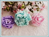 fabric roses.... (AllThingsPretty...) Tags: pinkrose silkflowers shabbychic silkroses fabricflowers lavenderrose fabricroses