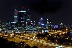 City of Lights, Perth, Western Australia (stuARTfoto) Tags: city longexposure night nikon australia perth westernaustralia d90 35mmf18 nikond90