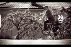 day 7 (Paolo Martinez) Tags: bw selfportrait blur hat bicycle self frames paolo outdoor 135mm peopleenjoyingnature