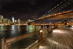 The Night lights of Manhattan (Gene Krasko Photography) Tags: nyc newyorkcity nightphotography usa night photography clear elite brooklynbridge eastriver manhattanskyline nightshots hdr brooklynbridgenight highdynamicrangeimage manhattannight nikond700 nikon1424mmf28