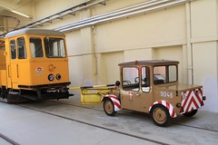 "Wien work car 6412 and ""plow car"" 9046 (Ian YVR) Tags: museum tram streetcar strassenbahn"