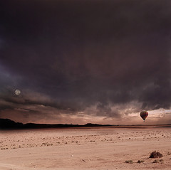 Moment Of Stillness (George Christakis) Tags: life moon art field clouds square death george solitude desert artistic surrealism empty air fine balloon dream surreal silence format dreamy moment stillness emptiness christakis