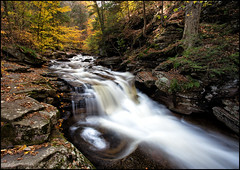Rickett's Glen Cascade {EXPLORED} (Marvin Foran Photography) Tags: fallleaves nature waterfall fallcolor pennsylvania falls rickettsglen rickettsglenstatepark pennsylvaniastateparks marvinforanphotography