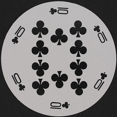 Round Playing Card 10 of Clubs (Leo Reynolds) Tags: playing club canon eos iso100 deck card round squaredcircle clubs 60mm f80 circular playingcard carddeck 01sec 40d hpexif xleol30x sqset079