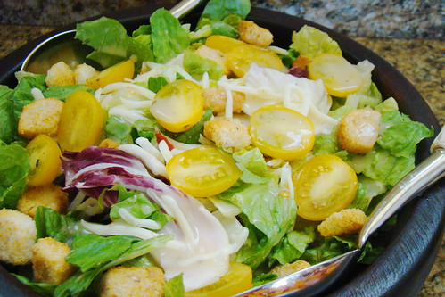 Italian Style Salad with Yellow Tomatoes