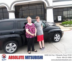 Absolute Mitsubishi would like to say Congratulations to Jeanne Bailey on the 2008 Chevrolet HHR (Absolute Mitsubishi) Tags: new car sedan truck happy dallas texas tx used mesquite bday dfw van minivan suv coupe mitsubishi dealership absolute shoutouts hatchback dealer customers 4dr metroplex 2dr preowned