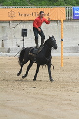 Standing Up.  On a horse. (Adrian Midgley) Tags: family horse movie bay team daniel devils horsemen cossack riding devil trick camilla gerard stunts thedevilshorsemen naprous watergat