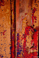 Franklin (badjonni) Tags: red orange texture wall urbandecay