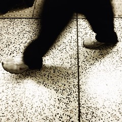 Crossing the line (Rob Emes) Tags: city london station square mono legs platform commute commuter 365 moorgate iphone 365project iphone5 iphoneography 3652013 uploaded:by=flickrmobile flickriosapp:filter=nofilter moorgaterailwaystationmog