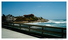 R0014607 (obaceman) Tags: california people seascape beach water pier surf waves sandiego wave pelican oceanbeach seashore