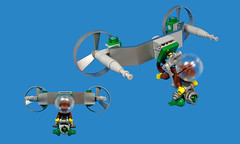Monkey Kyte (Karf Oohlu) Tags: monkey lego flyingmonkey moc skysled poweredkite