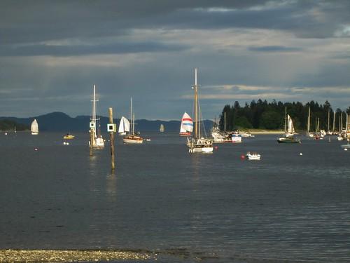 bike bc harbour biking sailboats saltspringisland touring ganges