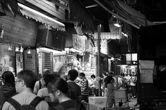 Kowloon City by Night (black and white), Hong Kong (stefanrechsteiner) Tags: life china city urban blackandwhite night canon hongkong town asia lifestyle 60mm kowloon bnw efs60mm kownlooncity canoneos50d canon50d hongkongtrip2013