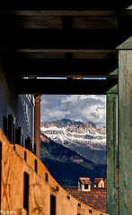 D Alpz or d Dolomites from a balcony (ako_ni) Tags: nature clouds landscape scenery view perspective panoramic shape dolomites snowcappedmountains northernitaly renon ritten sigma1770mm canon450d aunadisotto