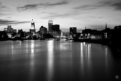 Providence, RI (@archphotographr) Tags: camera city ri bridge blackandwhite bw june skyline architecture reflections river lens lights us spring cityscape exterior dusk newengland places providence rhodeisland bluehour pvd collegehill downcity ef1635mmf28liiusm canoneos5dmarkiii ©hassanbagheri ©hbarchitectural pvdbw