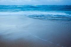 Waves (laszlofromhalifax) Tags: ocean blue beach water island hawaii evening sand waves sandy pacificocean kauai