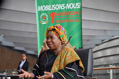 OAU/AU Golden Jubillee Assessment_005 (AUCommission) Tags: addisababa africanunioncommission interviewwithhcctv drdlaminizuma