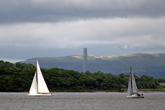 NORTH BRITISH POLICE & INVITATION SAILING CHAMPIONSHIP (ufopilot) Tags: chimney cup station race bay scotland clyde boat sailing power yacht vessel racing 1958 sail isle americas sceptre bute rothesay inverkip