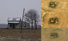 Burnham Log House - Rosedale, OH (Pythaglio) Tags: county ohio house abandoned pen john log historic madison single porch pike siding burnham township addition rosedale asbestos collapsing