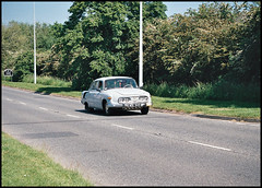 Tatra Rushes By (tatraskoda) Tags: auto old uk england film car 35mm nikon automobile european cheshire rally salt voiture communist socialist analogue done eastern f5 v8 tatra 603 czechoslovakian aircooled c200 fujicolor rearengine