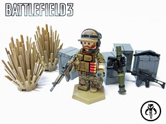 Battlefield 3 - Engineer (KalSkirata.) Tags: 3 modern military camo rocket minifig battlefield engineer m4 operator glock tactical m4a1 g36c bf3 g18 smaw